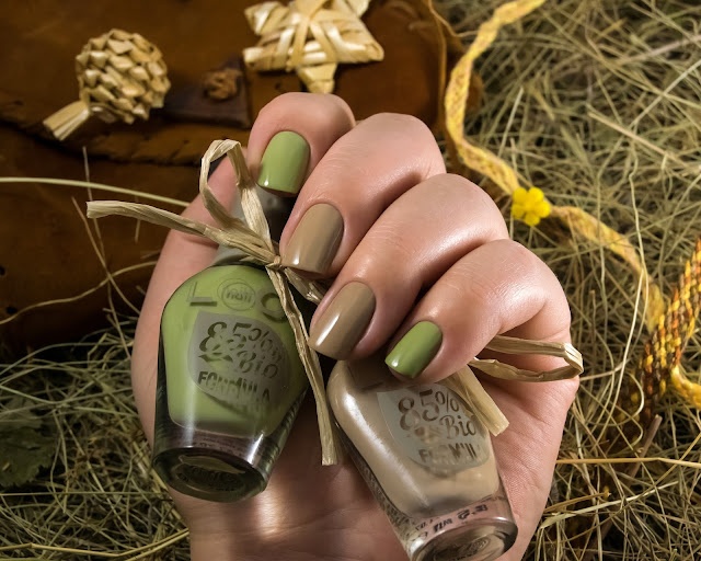 Warm Taupe и Early Olive bio polish naillook