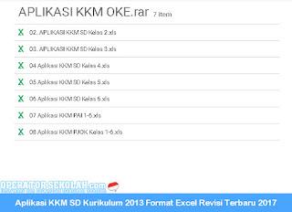 Aplikasi KKM SD Kurikulum 2013 Format Excel Revisi Terbaru 2017