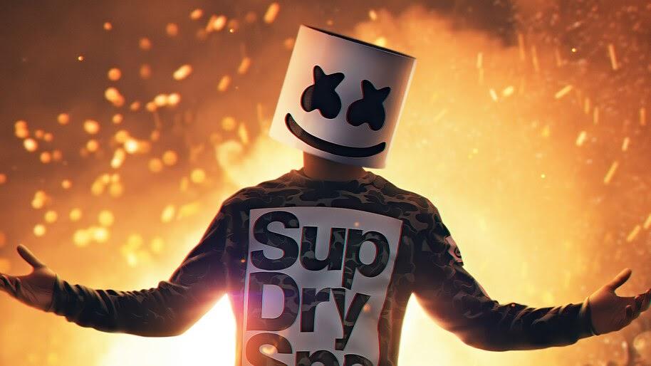 Marshmello, DJ, Mask, 4K, #4.3136