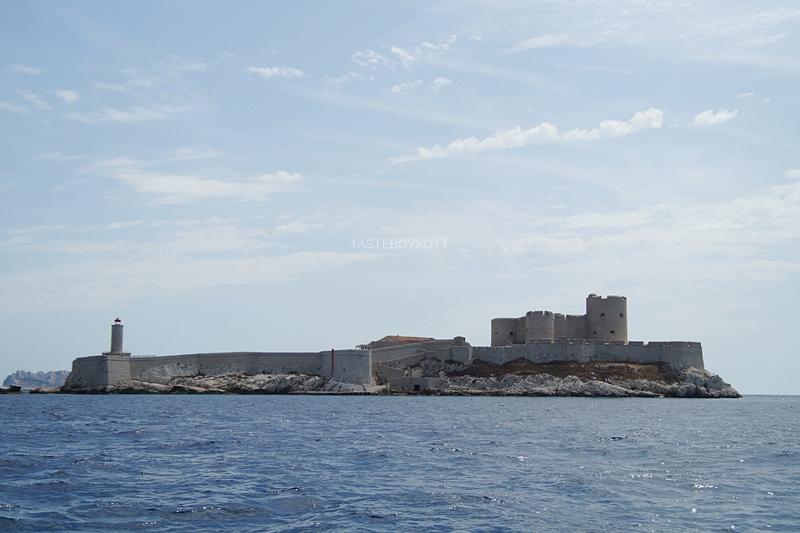 Marseille Gefängnisinsel Château d'If Sehenswürdigkeit Südfrankreich. Tasteboykott