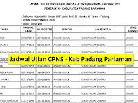 Jadwal dan Nama Peserta UJIAN CAT CPNS 2018 - Kabupaten Padang Pariaman, Download Disini !!!