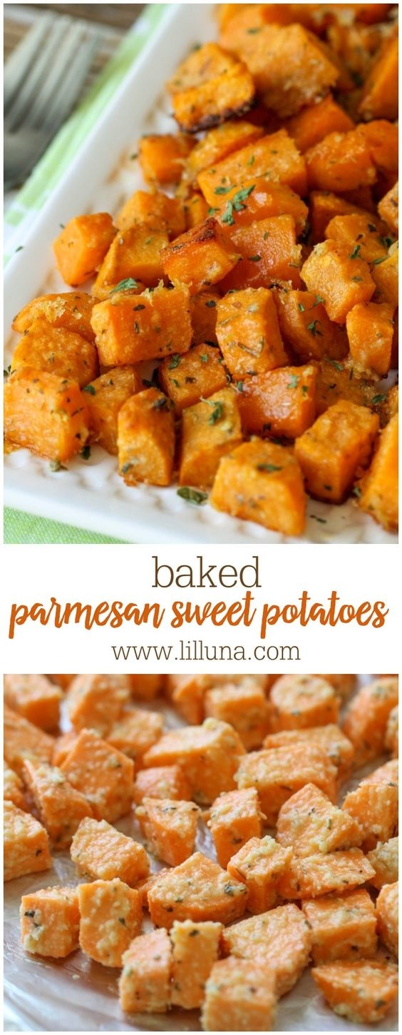 Baked Parmesan Sweet Potatoes Recipe