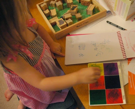 jungle stamping for preschool rainforest theme