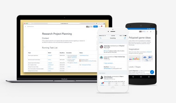 Dropbox Paper for Android and iOS launches in public beta