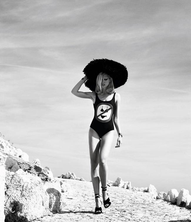 2016 SS Moschino No Bikinis Allowed Swimsuit Editorials