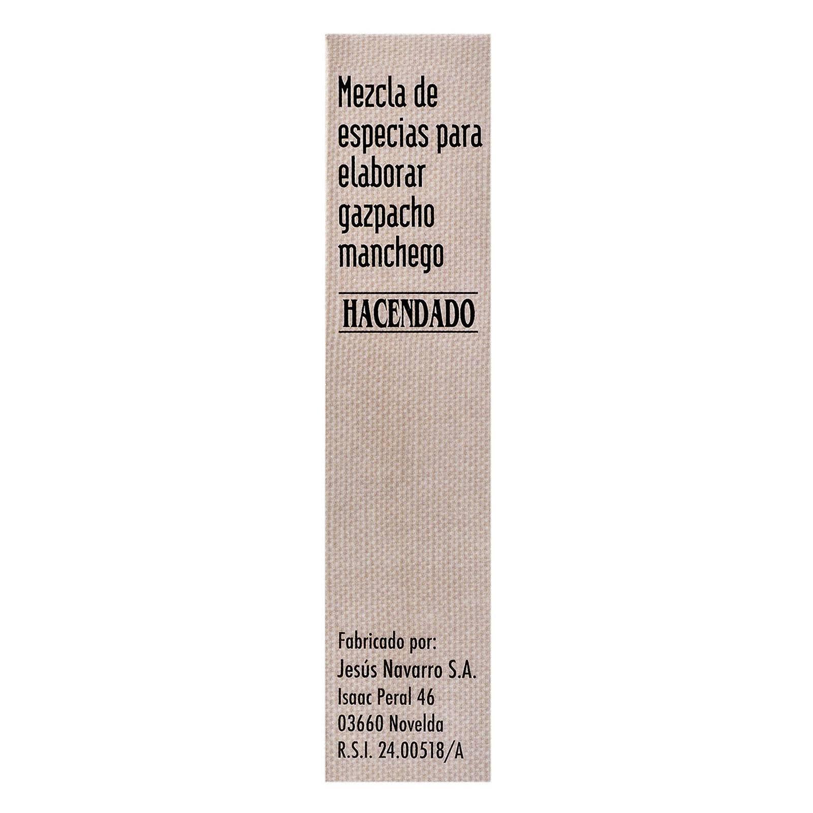 Mezcla de especias para gazpacho manchego Hacendado