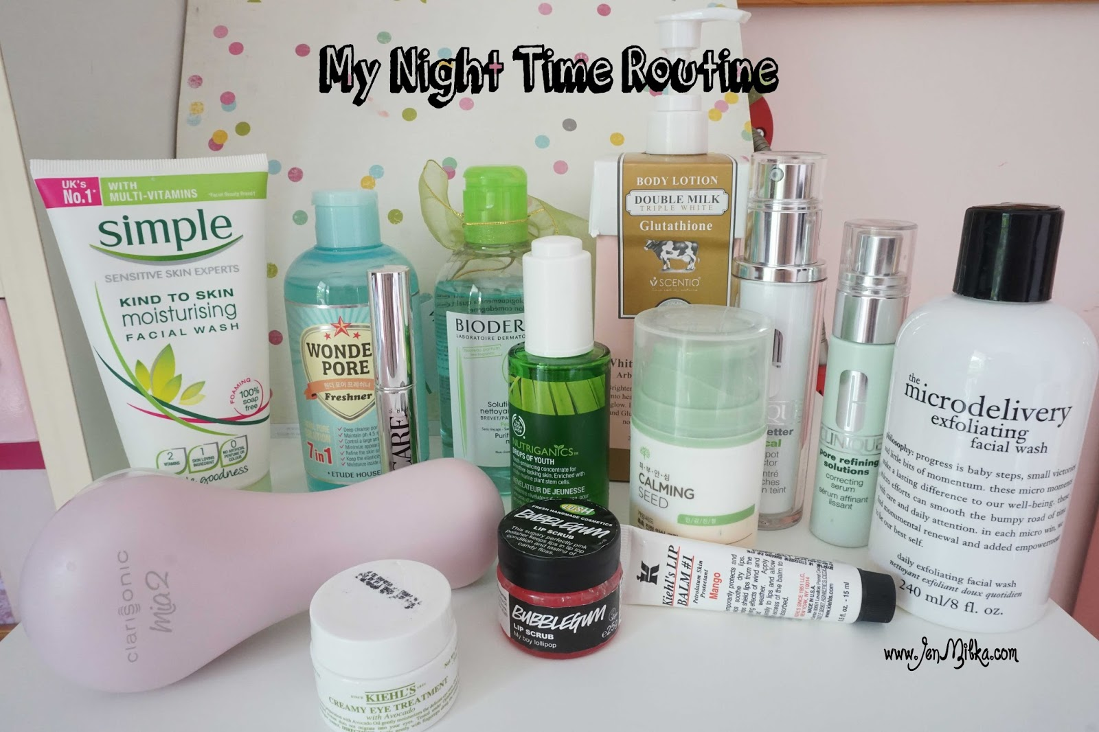 my night skin care routine