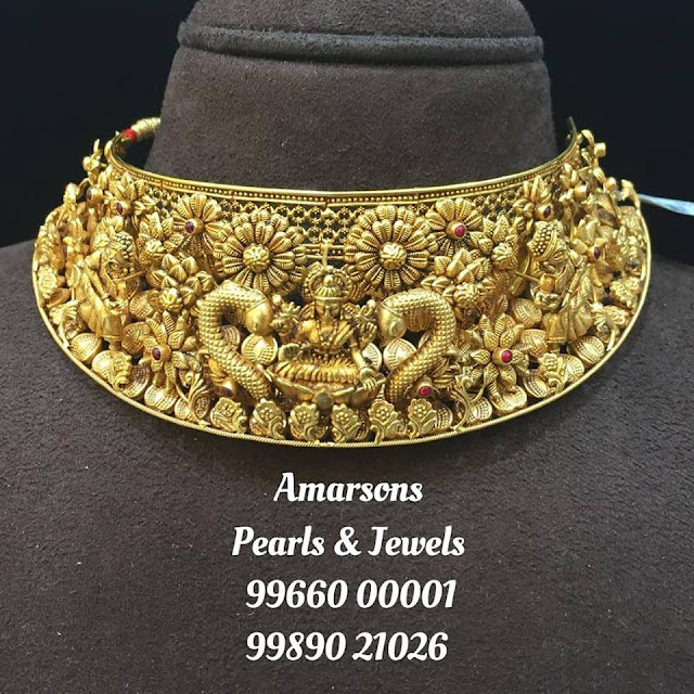 Temple Jewellery 3D Gold Choker