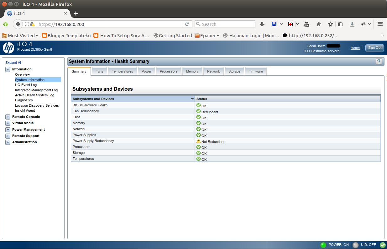 Setting ILO 4 di server HP DL380 G8 - Newbie Note