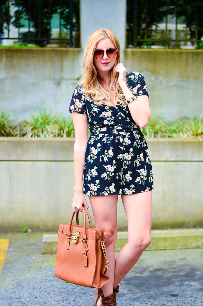 Forever 21 Pretty Floral printed Romper Vancouver Style Blog, Vancouver Beauty Blog, Vancouver Fashion Blog, Vancouver Outfit Blog, Health Blog, Fitness Blog