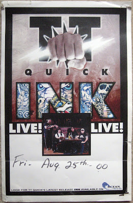 TT Quick... INK album release date poster... August 25, 2000