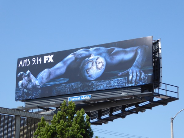 American Horror Story season 6 stapled head billboard