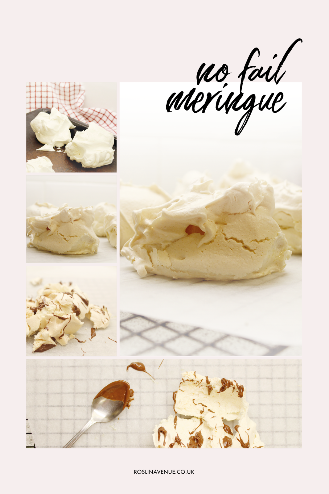 Recipe card for simple, easy, no-fail meringue – Mary Berry