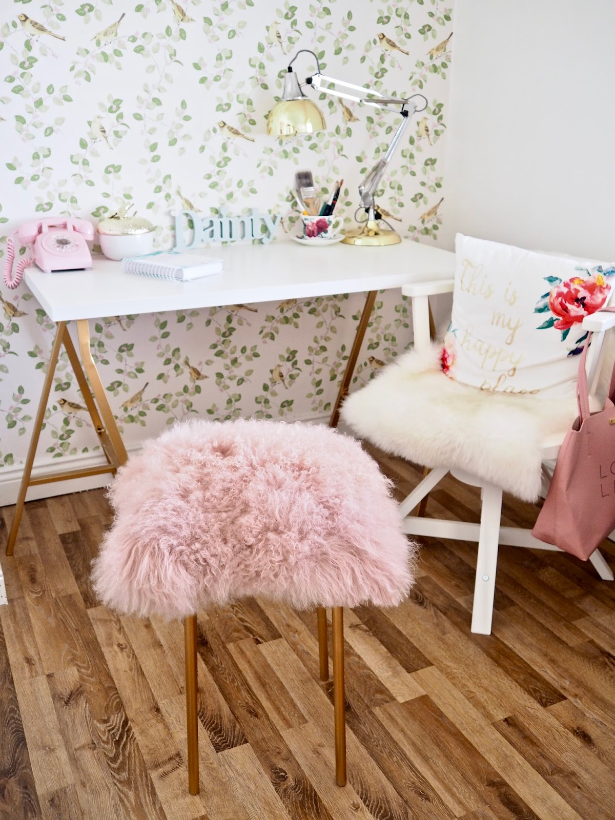 Pink Fluffy Chair Ikea Hack Diy Fur Stool The Dainty Dress Diaries