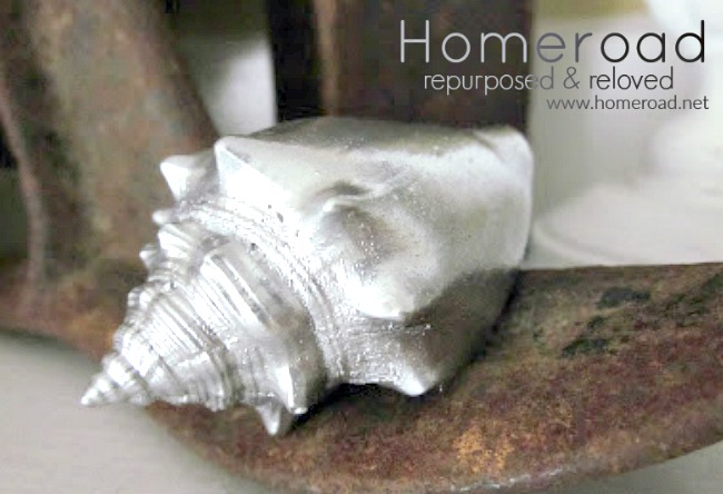 sea shell DIY gifts with metallic paint