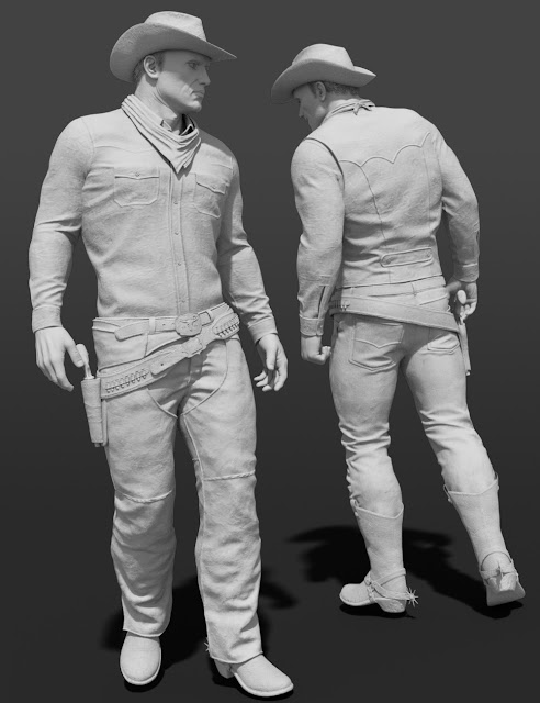 Desperado HD Clothes for Genesis 3 Male