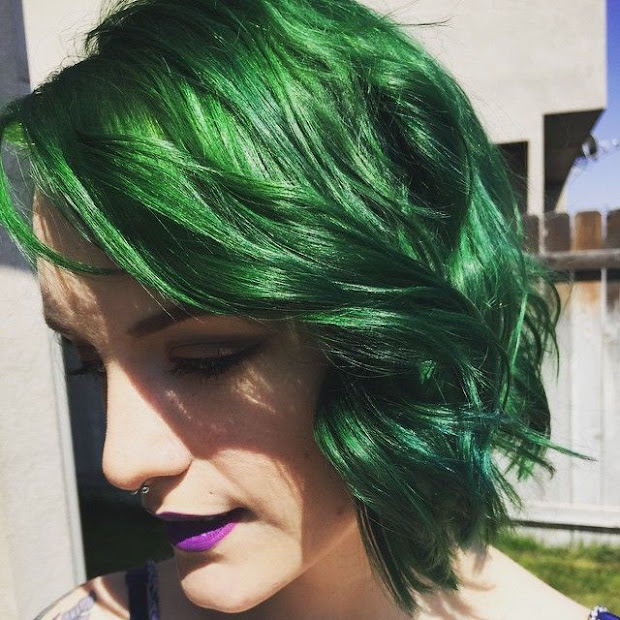 awesome green hairstyles