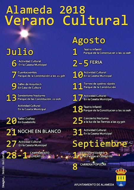 Verano Cultural Alameda 2018