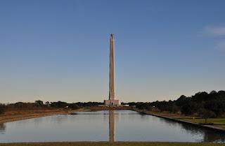 San Jacinto Monument and reflecting pool