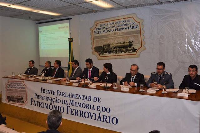 Deputado André do Prado prestigia lançamento da Frente Parlamentar de Preservação da Memória e do Patrimônio Ferroviário em Brasília