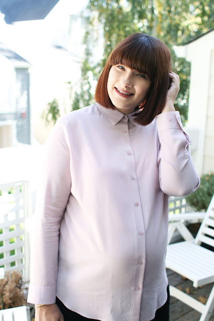 Uniqlo, Rayon shirt, pink, maternity style, ootd, Pregnancy, Fashion, Fashion Blogger