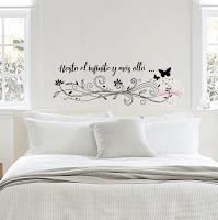 decorativo=, floral, frase,infinito, pared