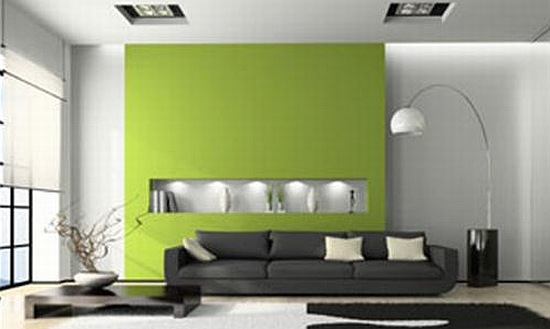 Living Room Design  Green Living Room with Combination Colors Black and green living Broom ideas