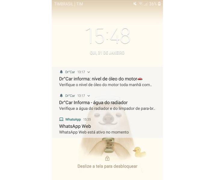 Notificações aplicativo DrºCar