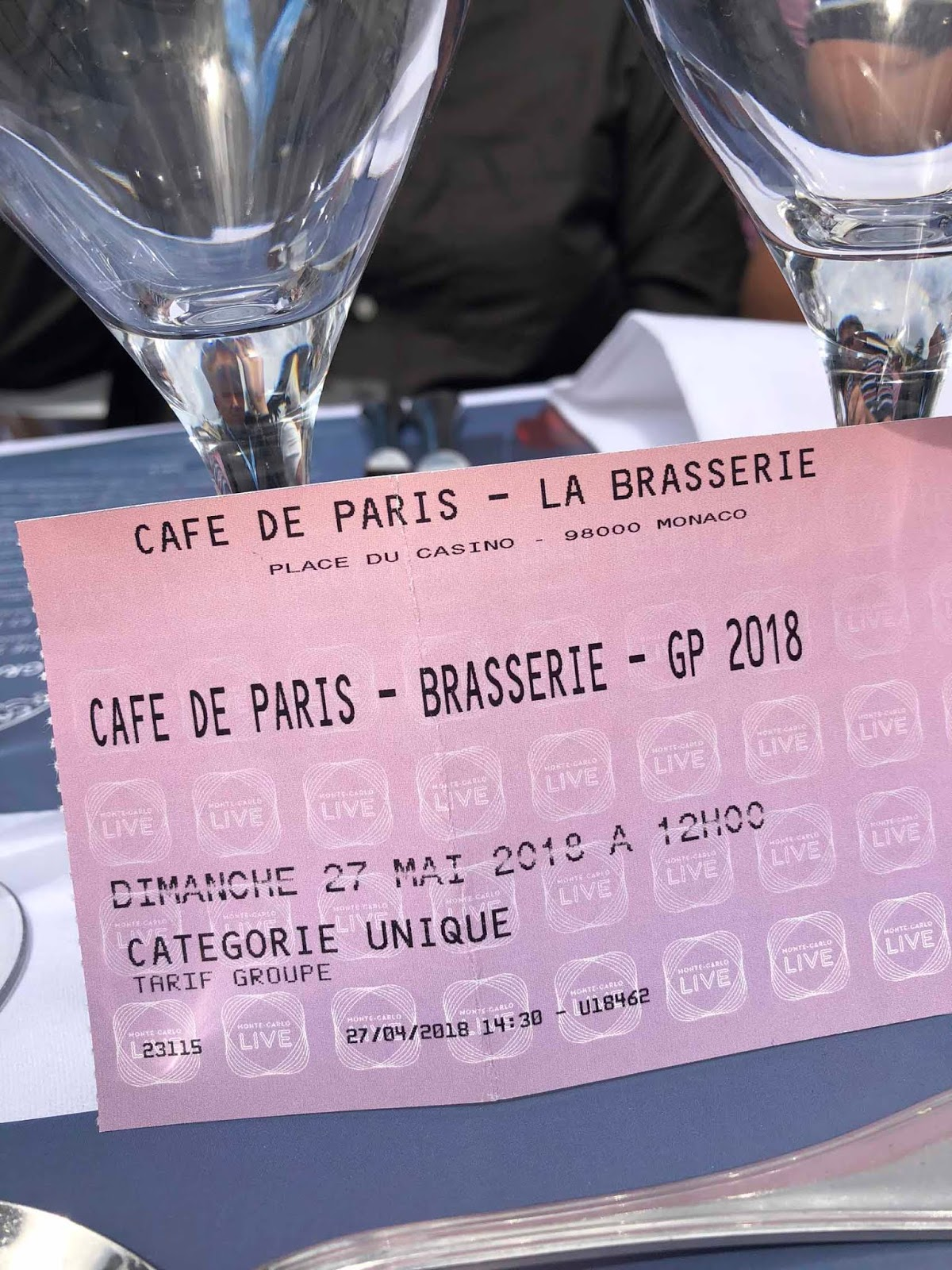 Café de Paris -lippu