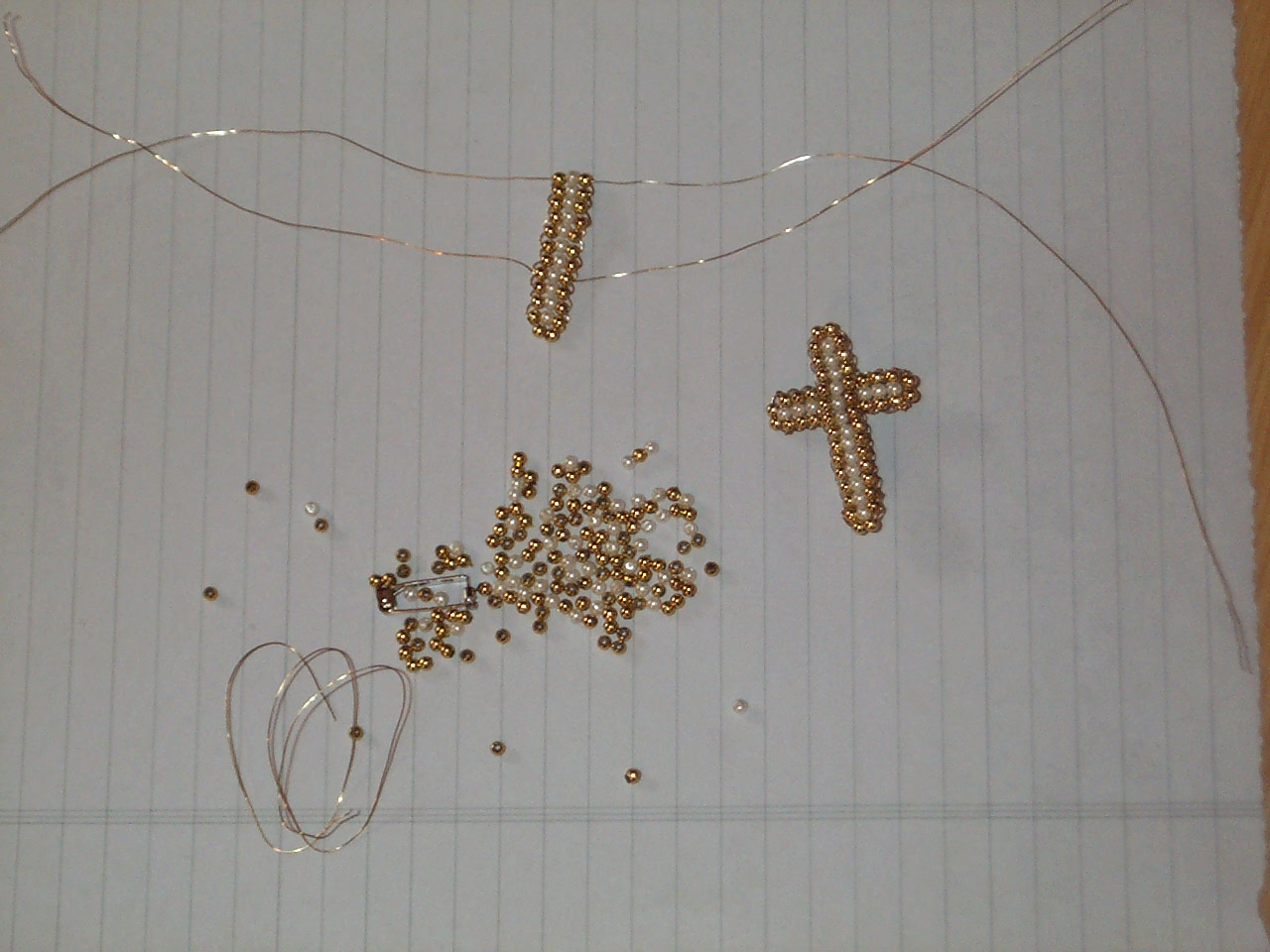 A Lapin Life How To Make A Beaded Wire Cross For
