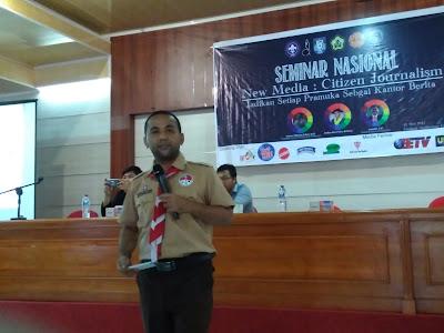 APRILIANSYAH | Pramuka Unib Ukir Sejarah dengan Seminar Nasional Pertama di Indonesia : Setiap Pramuka Adalah Kantor Berita