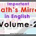 Free-Book: Math's Mirror Volume-2 in English [PDF Download]