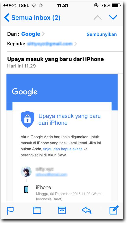 upaya masuk yang baru dari iphone