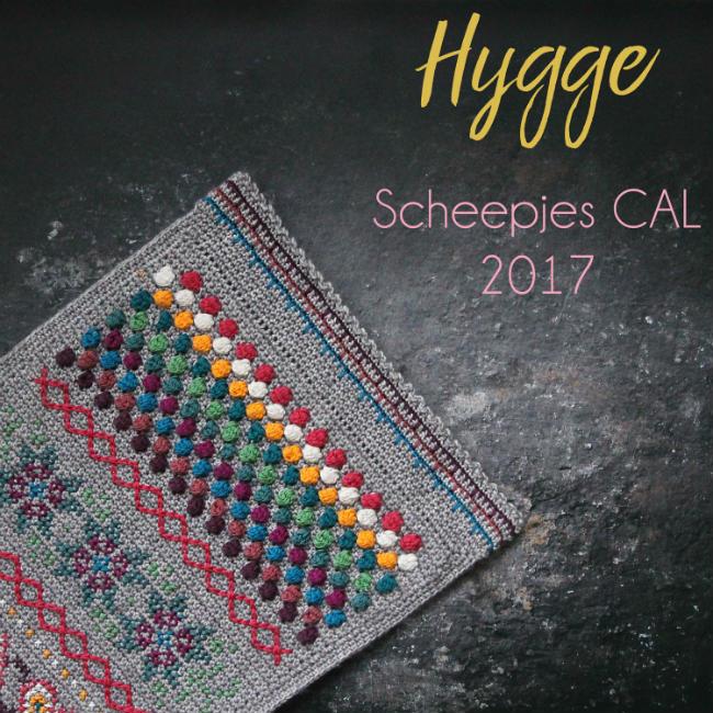 Scheepjes CAL 2017 - Hygge rainbow (photo Scheepjes) | Happy in Red
