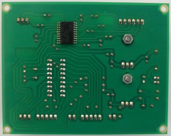 Tarjeta de control digital para amplificador de audio soldaduras.