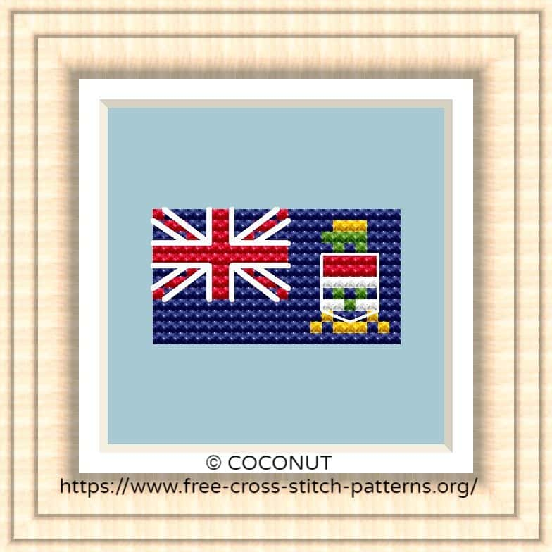 NATIONAL FLAG OF CAYMAN ISLANDS CROSS STITCH CHART