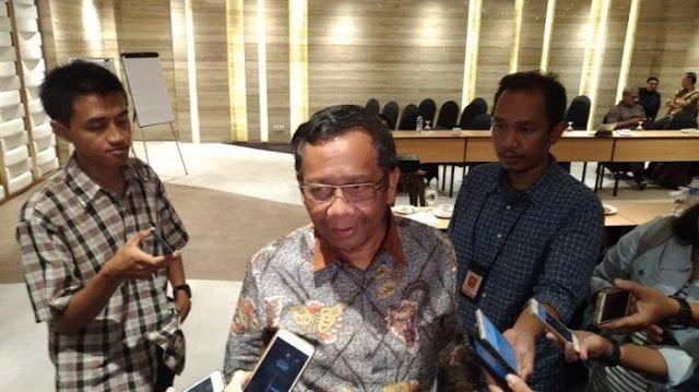 Dukung Jokowi atau Prabowo? Ini Jawaban Mahfud MD