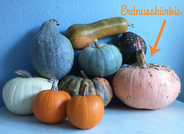 Erdnusskürbis Kürbis Herbst kochen Rezept Salat Feldsalat Zubereitung