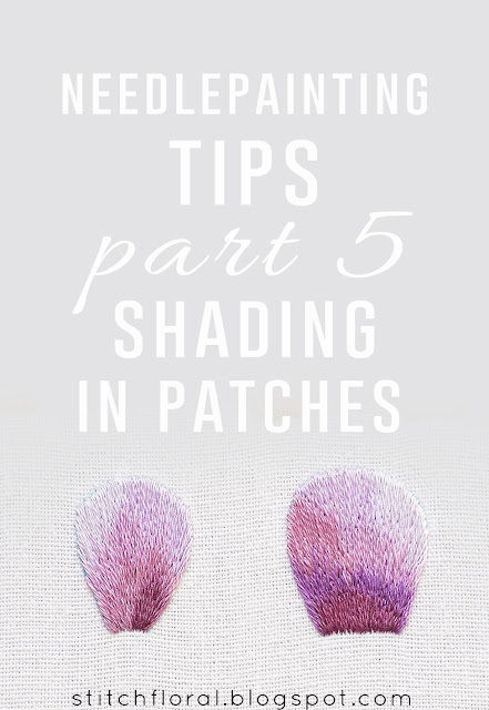 Needlepainting tips part 5: shading in patches