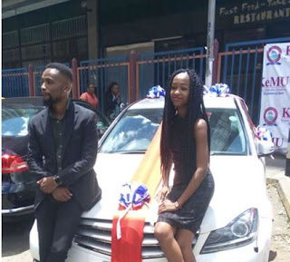 Lady Surprises Boyfriend By Giving Him A Brand New Mercedes Benz Car As Valentine's Gift (Photos)
