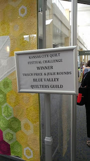 KCRQF quilt challenge winner - quilt by Trisch Price and Julie Rounds