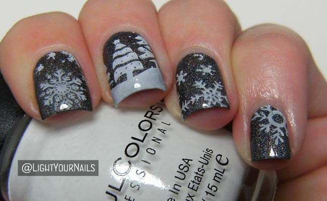 winter nail art challenge snow light your nails. Black Bedroom Furniture Sets. Home Design Ideas
