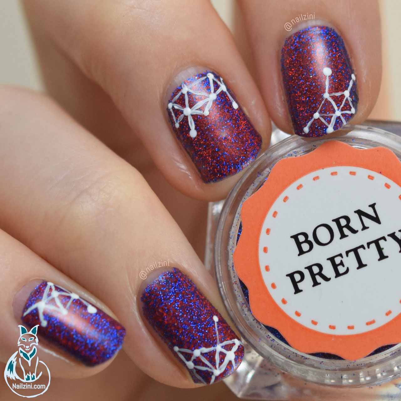 Geometric glitter nail art | Nailzini: A Nail Art Blog