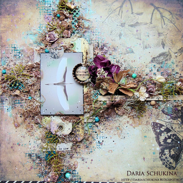 @dashylya_schukina @cutecut.ru #скрапбукинг #панно #ручнаяработа #миксмедиа #scrapbooking #mixedmedia #finnabairproducts #finnabair #craftstory_ru #primamarketinginc #primamarketing #primaflowers