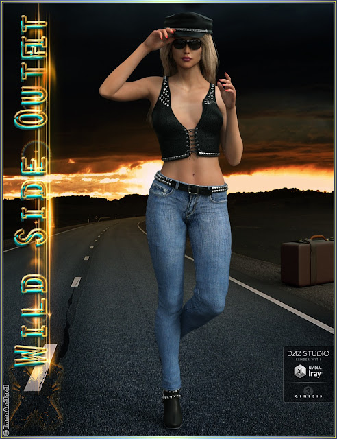 Wild Side Outfit And Accessories for Genesis 3 Female