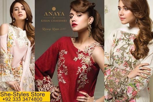 4baa6fe825 Anaya Eid Luxury Lawn Collection 2017-18 Catalog | She-Styles ...