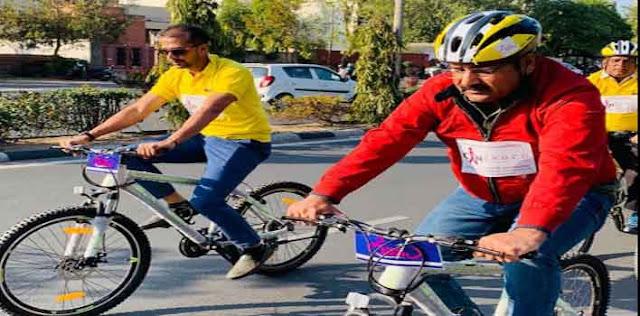 साइकिल चलाने से पर्यावरण सुधरेगा, जयपुर में ट्रेफिक भी सुधरेगा