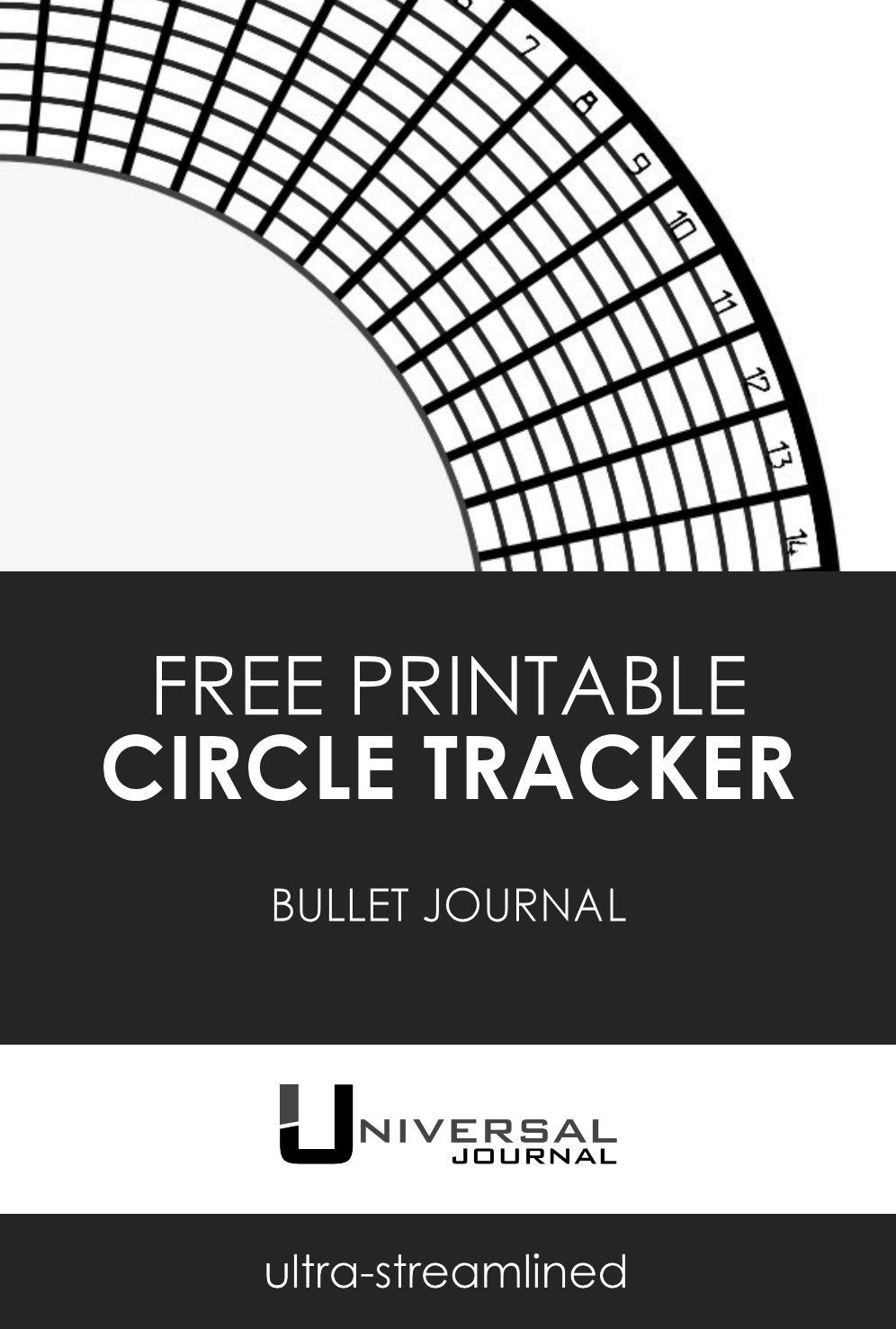 bullet journal circle habit tracker free