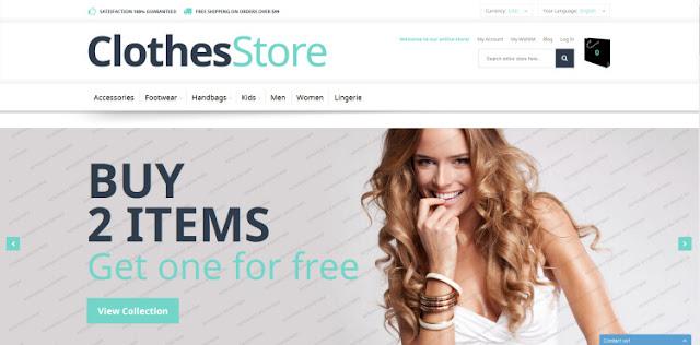 CLothes Store бесплатный шаблон для magento 1.9