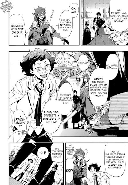 Manga Kuroshitsuji Sebastian Ciel Grell Othello Otello